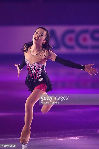 Marin Honda of Japan performs her routine in the exhibition during day three of ISU Grand Prix of Figure Skating 2014/2015 NHK Trophy at the Namihaya...