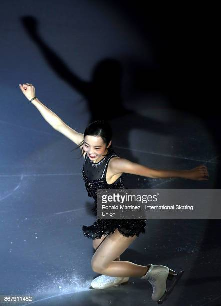 Marin Honda of Japan performs in the exhibition gala during the ISU Grand Prix of Figure Skating at Brandt Centre on October 29 2017 in Regina Canada