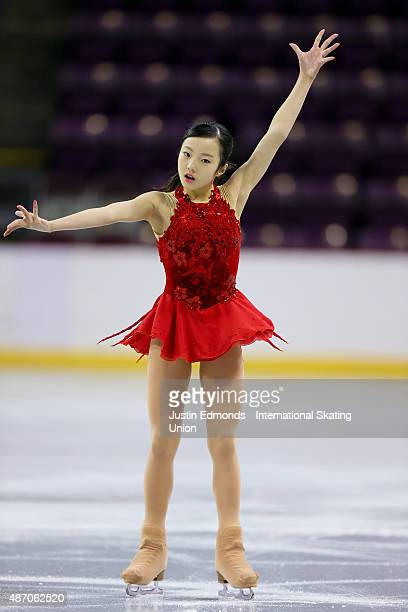 Marin Honda of Japan skates during the junior ladies free skate at World Arena on September 5 2015 in Colorado Springs Colorado
