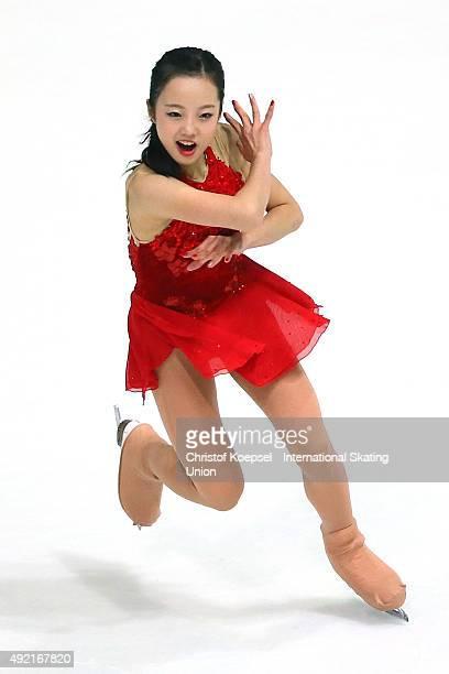 Marin Honda of Japan skates during the junior ladies free skating of the ISU Junior Grand Prix at Dom Sportova on October 10 2015 in Zagreb Croatia