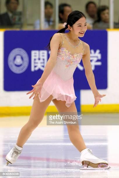 Marin Honda performs during the Kansai University Ice Show on July 2 2017 in Takatsuki Osaka Japan