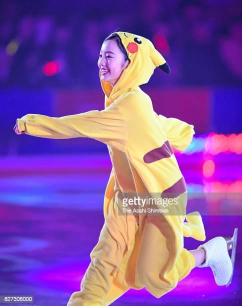 Marin Honda performs during the Prince Ice World 2017 in Nikko at Nikko Kirifuri Ice Arena on August 5 2017 in Nikko Tochigi Japan