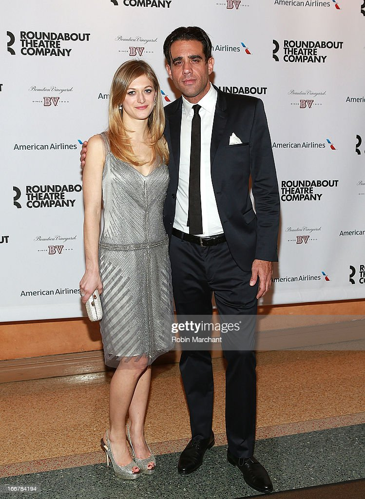 Marin Ireland (L) and Bobby Cannavale attend 'The Big Knife' Broadway opening night at American Airlines Theatre on April 16, 2013 in New York City.