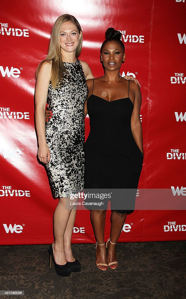 Marin Ireland and Nia Long attend 'The Divide' series premiere at Dolby 88 Theater on June 26, 2014 in New York City.