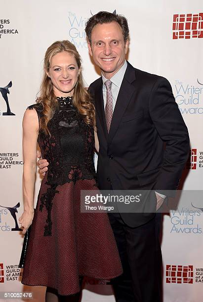Marin Ireland and Tony Goldwyn attend the 68th Annual Writers Guild Awards at Edison Ballroom on February 13 2016 in New York City