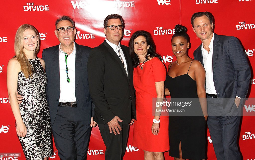 Marin Ireland, Marc Juris, Richard LaGravenese, Cheryl Bloch, Nia Long and Tony Goldwyn attend 'The Divide' series premiere at Dolby 88 Theater on June 26, 2014 in New York City.