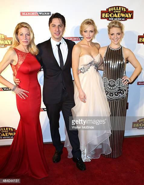 Marin Mazzie Zach Braff Betsy Wolfe Helene Yorke attends the 'Bullets Over Broadway' opening night celebration at The Metropolitan Museum on April 10...