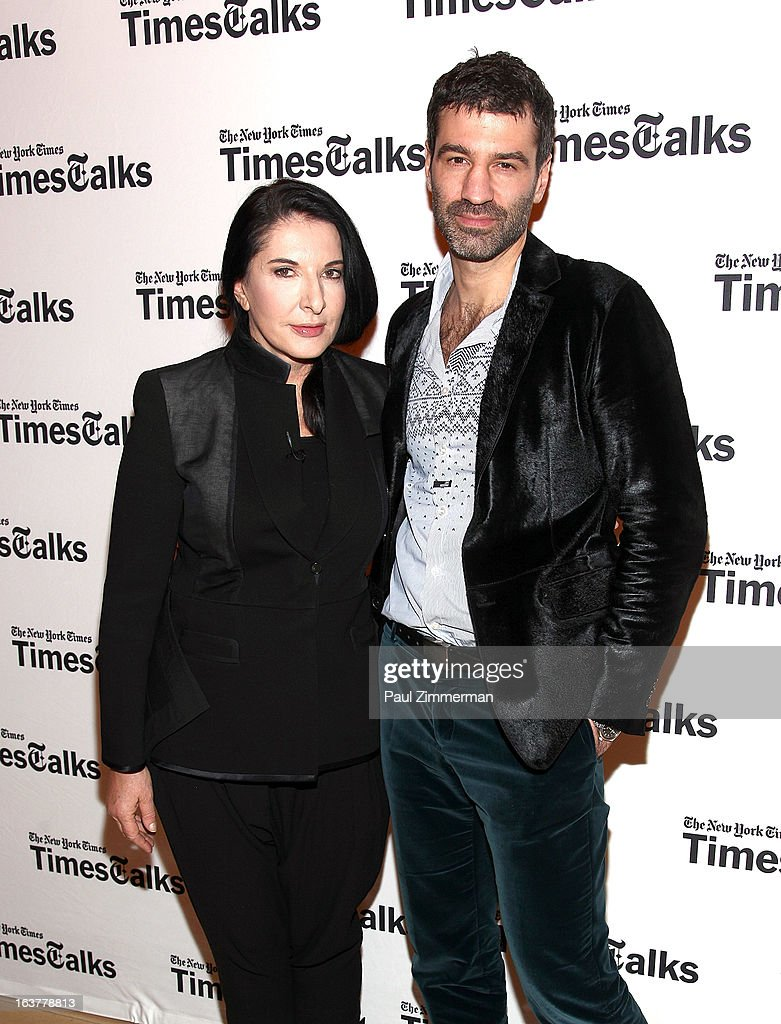 <a gi-track='captionPersonalityLinkClicked' href=/galleries/search?phrase=Marina+Abramovic&family=editorial&specificpeople=2315598 ng-click='$event.stopPropagation()'>Marina Abramovic</a> and Jorn Weisbrodt attend TimesTalks: <a gi-track='captionPersonalityLinkClicked' href=/galleries/search?phrase=Marina+Abramovic&family=editorial&specificpeople=2315598 ng-click='$event.stopPropagation()'>Marina Abramovic</a> at TheTimesCenter on March 15, 2013 in New York City.