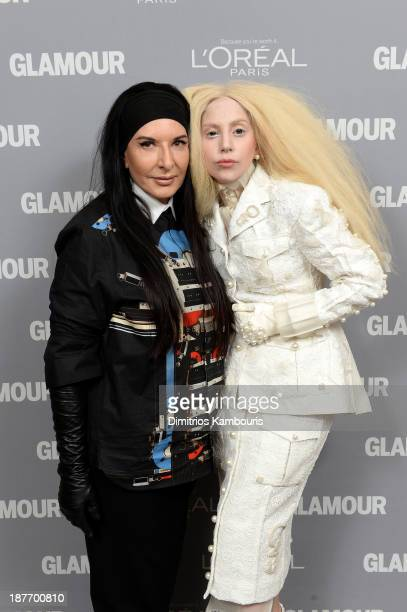 Marina Abramovic and Lady Gaga attend Glamour's 23rd annual Women of the Year awards on November 11 2013 in New York City