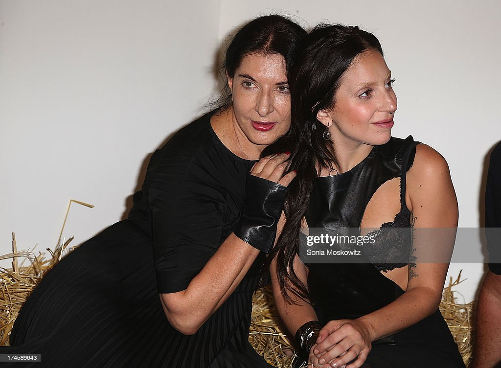 <a gi-track='captionPersonalityLinkClicked' href=/galleries/search?phrase=Marina+Abramovic&family=editorial&specificpeople=2315598 ng-click='$event.stopPropagation()'>Marina Abramovic</a> and <a gi-track='captionPersonalityLinkClicked' href=/galleries/search?phrase=Lady+Gaga&family=editorial&specificpeople=4456754 ng-click='$event.stopPropagation()'>Lady Gaga</a> attend The 20th Annual Watermill Center Summer Benefit at The Watermill Center on July 27, 2013 in Water Mill, New York.