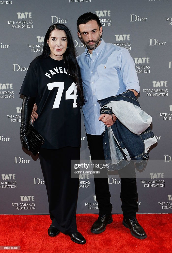 <a gi-track='captionPersonalityLinkClicked' href=/galleries/search?phrase=Marina+Abramovic&family=editorial&specificpeople=2315598 ng-click='$event.stopPropagation()'>Marina Abramovic</a> and Ricardo Testinci attend the 2013 Tate Americas Foundation Artists Dinner>> at Skylight Studios at Moynihan Station on May 8, 2013 in New York City.