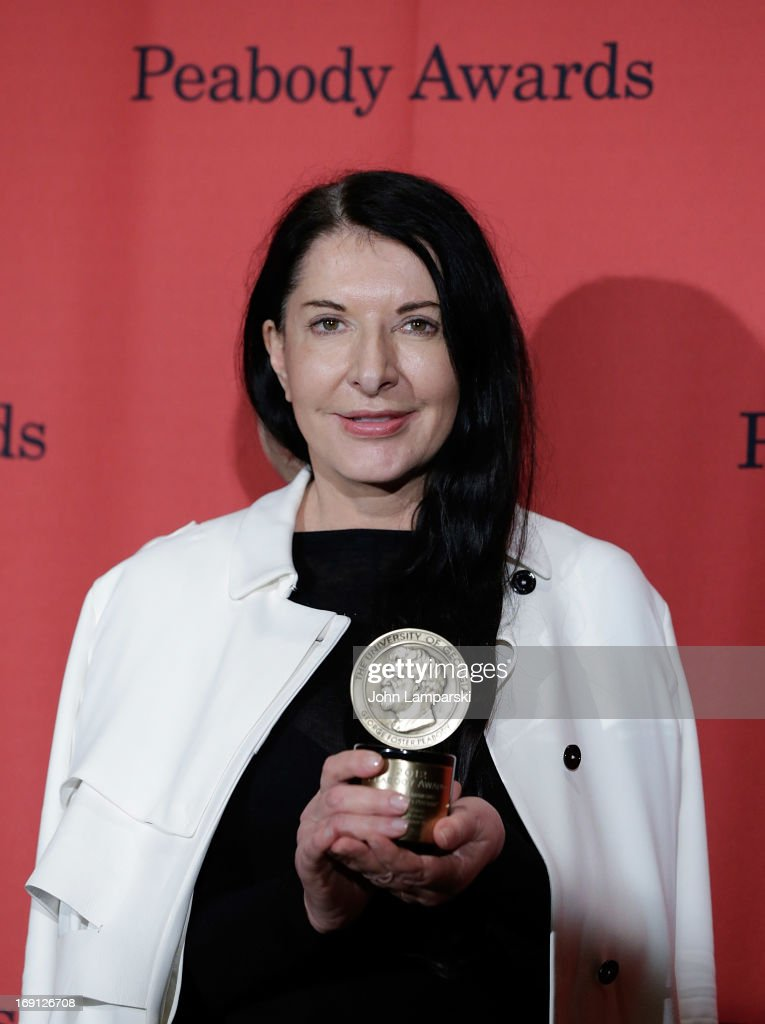 <a gi-track='captionPersonalityLinkClicked' href=/galleries/search?phrase=Marina+Abramovic&family=editorial&specificpeople=2315598 ng-click='$event.stopPropagation()'>Marina Abramovic</a> attends 72nd Annual George Foster Peabody Awards at The Waldorf=Astoria on May 20, 2013 in New York City.