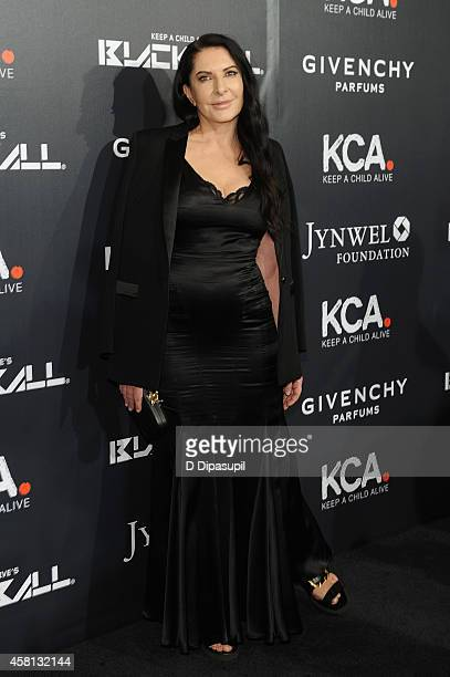 Marina Abramovic attends Keep A Child Alive's 11th annual Black Ball at Hammerstein Ballroom on October 30 2014 in New York City