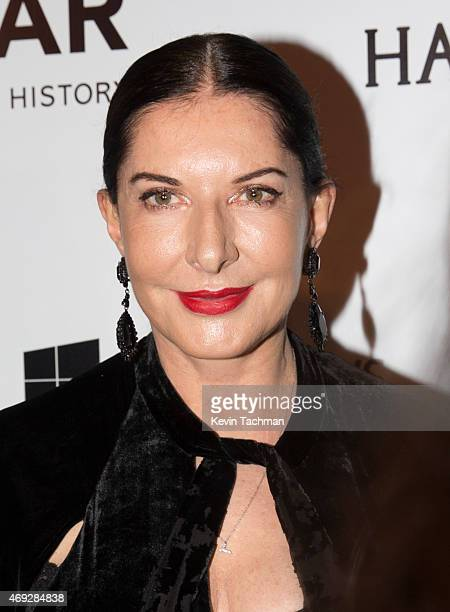 Marina Abramovic attends the 5th Annual amfAR Inspiration Gala at the home of Dinho Diniz on April 10 2015 in Sao Paulo Brazil