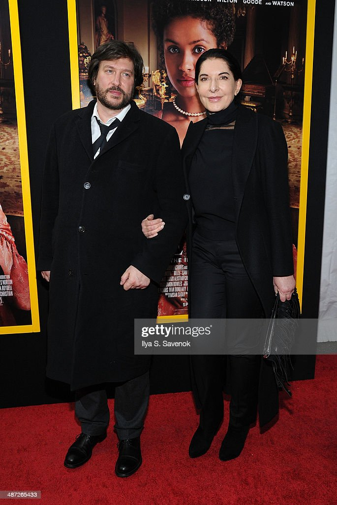 Marina Abramovic (R) attends the 'Belle' premiere at The Paris Theatre on April 28, 2014 in New York City.