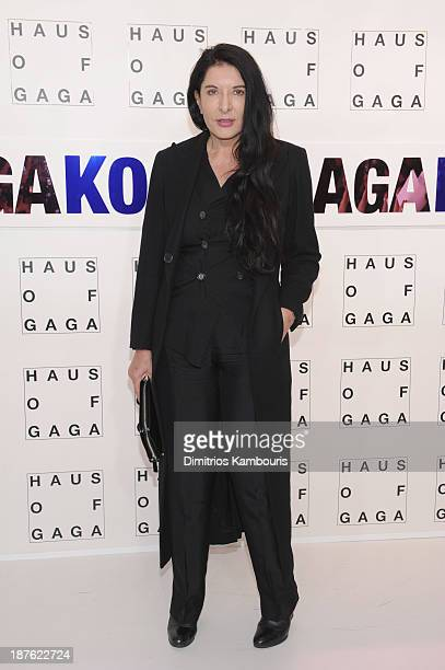 Marina Abramovic attends the 'Lady Gaga Presents 'artRave' event at Brooklyn Navy Yard on November 10 2013 in the Brooklyn borough of New York City