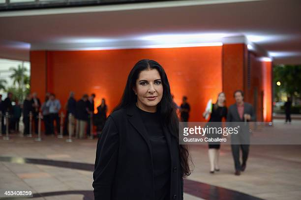 Marina Abramovic attends the World Premiere Of 'A Portrait Of Marina Abramovic' Sponsored By CAR2GO on December 3 2013 in Miami Florida