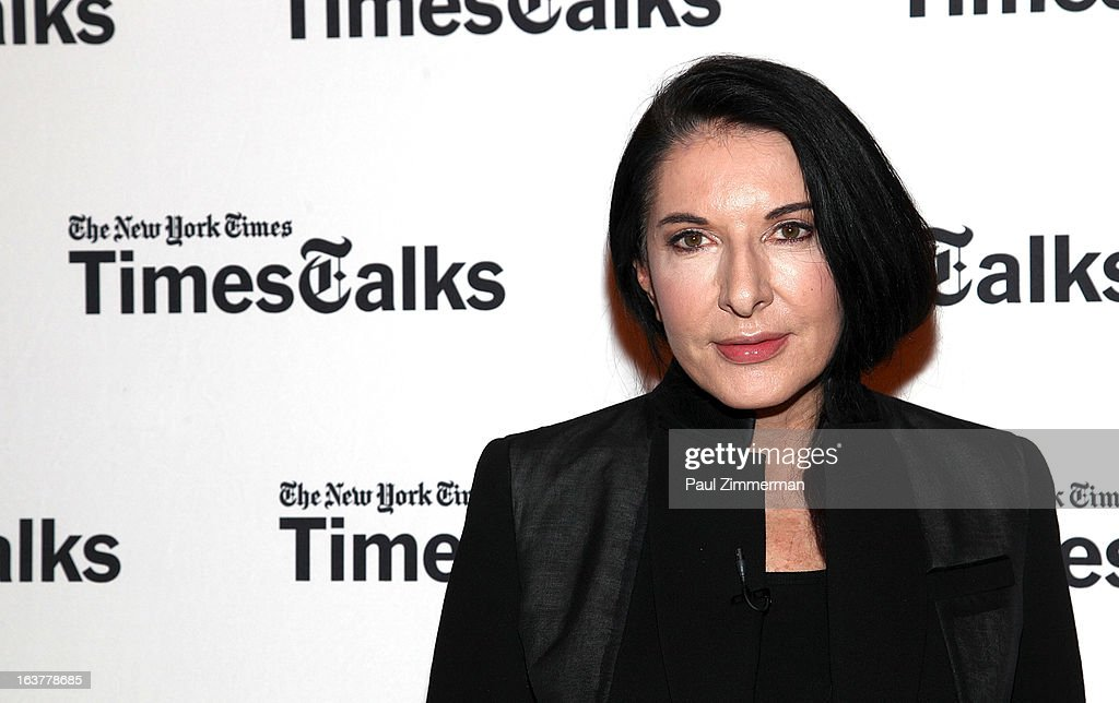 Marina Abramovic at TheTimesCenter on March 15, 2013 in New York City.