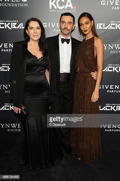 Marina Abramovic Designer Riccardo Tisci and Joan Smalls attend Keep A Child Alive's 11th annual Black Ball at Hammerstein Ballroom on October 30...