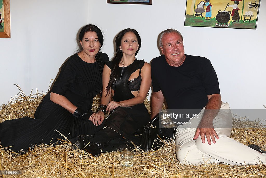 <a gi-track='captionPersonalityLinkClicked' href=/galleries/search?phrase=Marina+Abramovic&family=editorial&specificpeople=2315598 ng-click='$event.stopPropagation()'>Marina Abramovic</a>, <a gi-track='captionPersonalityLinkClicked' href=/galleries/search?phrase=Lady+Gaga&family=editorial&specificpeople=4456754 ng-click='$event.stopPropagation()'>Lady Gaga</a>, and Robert Wilson attend The 20th Annual Watermill Center Summer Benefit at The Watermill Center on July 27, 2013 in Water Mill, New York.