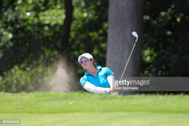 Marina Alex hits out of a sand trap on the No 6 hole during the second round of the LPGA Marathon Classic presented by Owens Corning and OI on July...