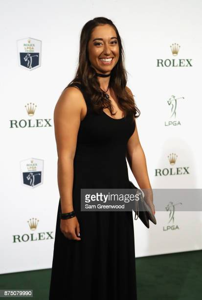 Marina Alex of the United States arrives at the LPGA Rolex Players Awards at The RitzCarlton Golf Resort on November 16 2017 in Naples Florida