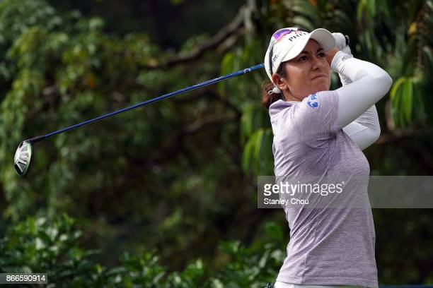 Marina Alex of the United States in action during day one of the Sime Darby LPGA Malaysia at TPC Kuala Lumpur East Course on October 26 2017 in Kuala...