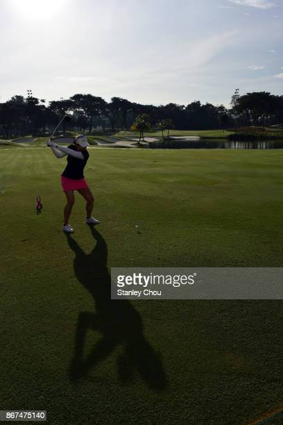 Marina Alex of the United States in action during day three of the Sime Darby LPGA Malaysia at TPC Kuala Lumpur East Course on October 28 2017 in...