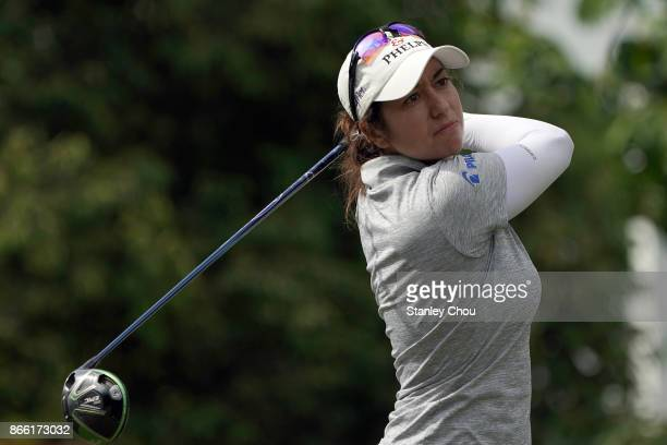 Marina Alex of the United States in action during the Sime Darby LPGA Malaysia ProAm on October 25 2017 in Kuala Lumpur Malaysia