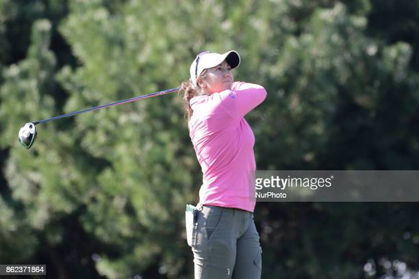 Marina Alex of USA action on the 2th tee during an KEB HANA BANK LPGA Championship day 2 at Sky72 Ocean Golf range in Incheon South Korea