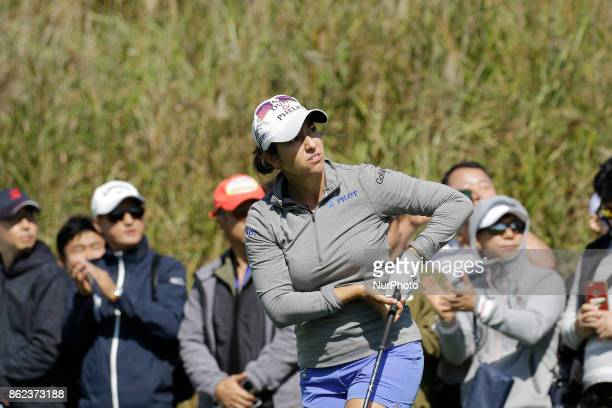 Marina Alex of USA action on the 7th tee during an KEB HANA BANK LPGA Championship Final at Sky72 Ocean Golf range in Incheon South Korea
