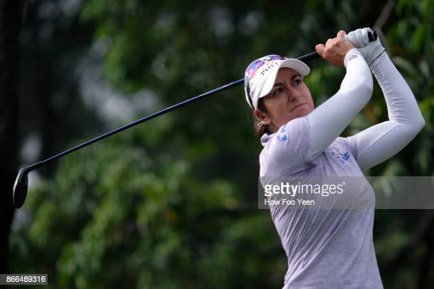 Marina Alex of USA in action during day one of the Sime Darby LPGA Malaysia at TPC Kuala Lumpur East Course on October 26 2017 in Kuala Lumpur...