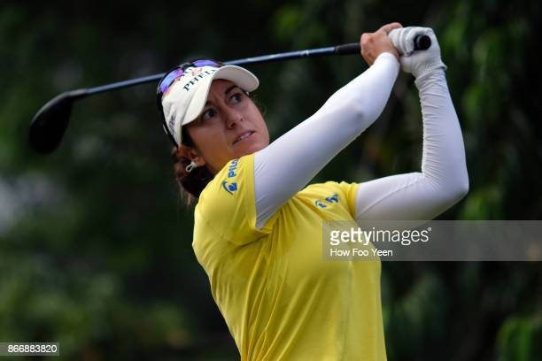 Marina Alex of USA in action during day two of the Sime Darby LPGA Malaysia at TPC Kuala Lumpur East Course on October 27 2017 in Kuala Lumpur...