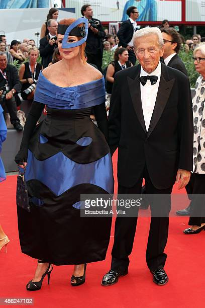 Marina and Carlo Ripa di Meana attends the opening ceremony and premiere of 'Everest' during the 72nd Venice Film Festival on September 2 2015 in...