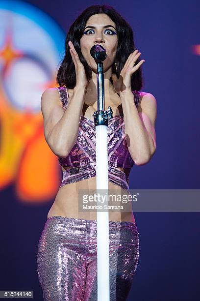 Marina and The Diamonds performs live on stage at Autodromo de Interlagos on March 12 2016 in Sao Paulo Brazil