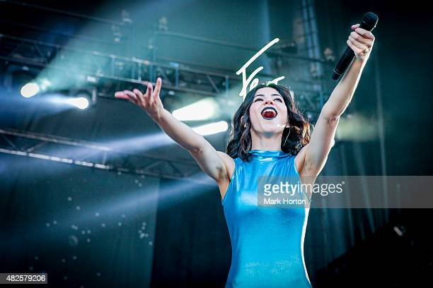 Marina and the Diamonds performs on Day 1 of the Osheaga Music and Art Festival on July 31 2015 in Montreal Canada
