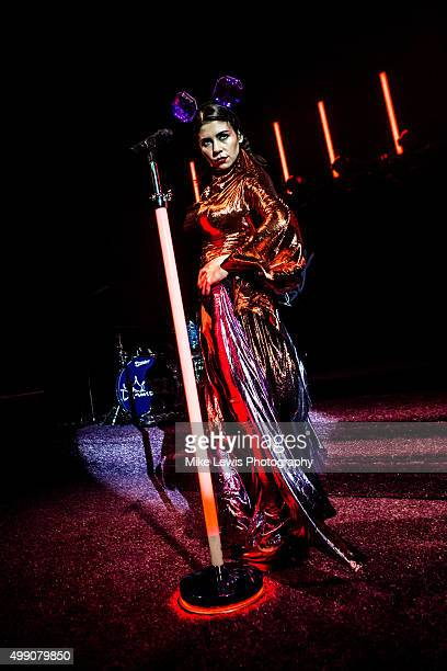Marina and the Diamonds performs on stage at Cardiff University on November 28 2015 in Cardiff Wales