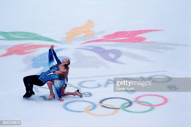 Marina Anissina and Gwendal Peizerat from France at the 1998 Winter Olympics