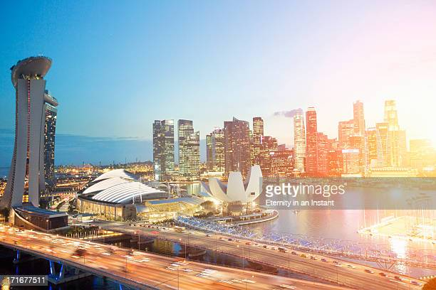 Marina Bay and business district, Singapore
