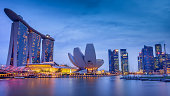 Marina Bay at blue hour