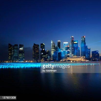 Marina Bay at  night
