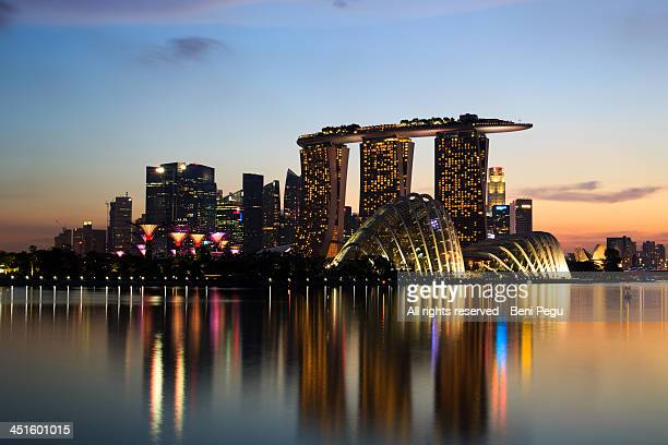 Marina Bay by sunset