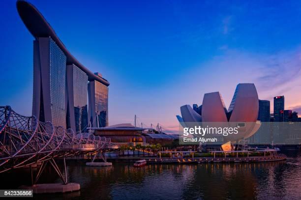 Marina Bay Sands at dusk, Singapore August 21, 2017