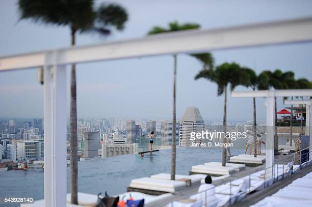 Marina Bay Sands hotel and resort on March 08 2011 in Singapore The newest attraction in Singapore the resort of the Marina Bay Sands cost a whacking...