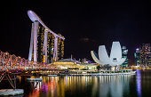Marina Bay Sands night view
