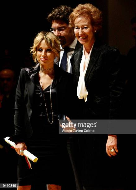 Marina Berlusconi and Letizia Moratti attend the Ambrogino D'Oro 2009 on December 7 2009 in Milan Italy The Ambrogino D'Oro is an annual ceremony at...