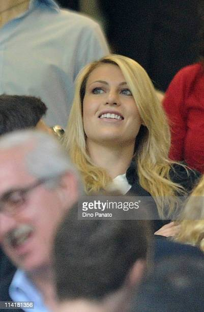 Marina Berlusconi looks on during the Serie A match between AC Milan and Cagliari Calcio at Stadio Giuseppe Meazza on May 14 2011 in Milan Italy