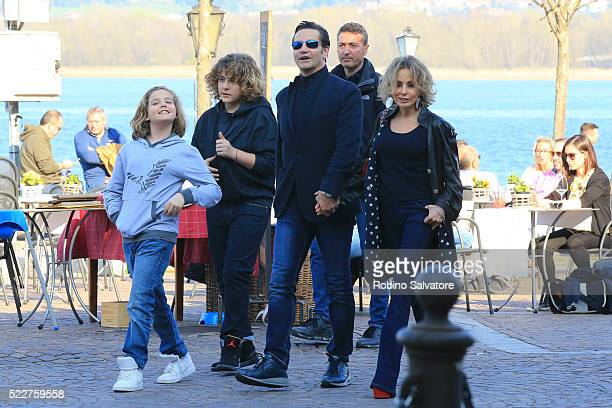 Marina Berlusconi with her family is seen on March 26 2016 in Arona Italy