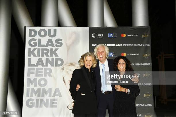Marina Cicogna Douglas Kirkland and Franoise Kirkland attend 'Douglas Kirkland Fermo Immagine' exhibition opening at MAXXI Museum on October 17 2017...