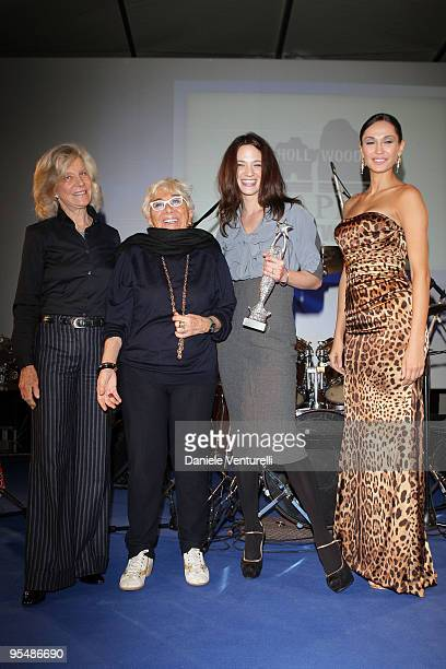 Marina Cicogna Lina Wertmuller Asia Argento and Eugenia Chernyshova attend the third day of the 14th Annual Capri Hollywood International Film...